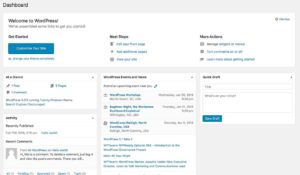 wordpress dashboard screen shot