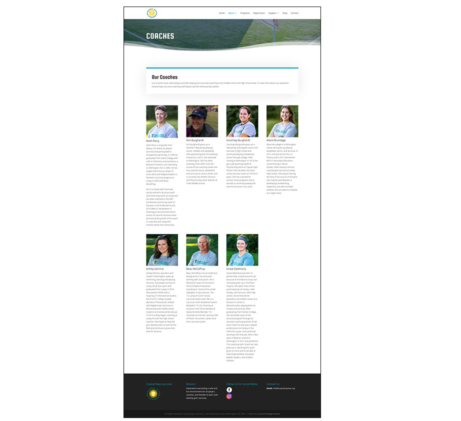 Coaches page image